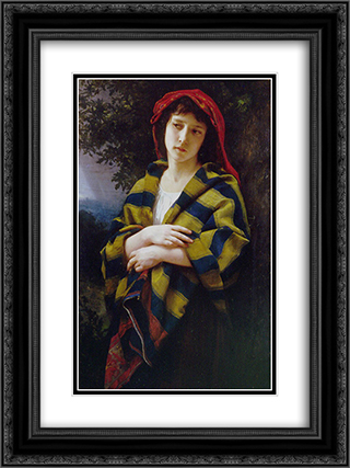 During the Storm ` 18x24 Black or Gold Ornate Framed and Double Matted Art Print by William Adolphe Bouguereau