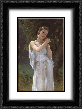 Earrings 18x24 Black or Gold Ornate Framed and Double Matted Art Print by William Adolphe Bouguereau