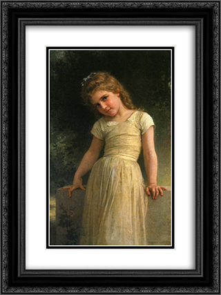 Elpieglerie 18x24 Black or Gold Ornate Framed and Double Matted Art Print by William Adolphe Bouguereau