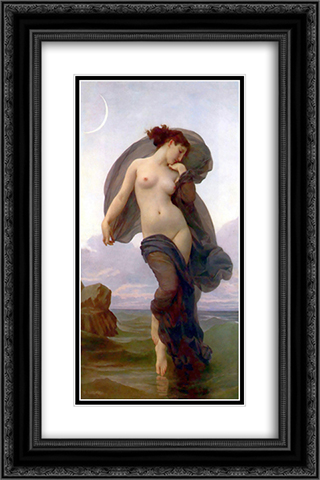 Evening Mood 16x24 Black or Gold Ornate Framed and Double Matted Art Print by William Adolphe Bouguereau
