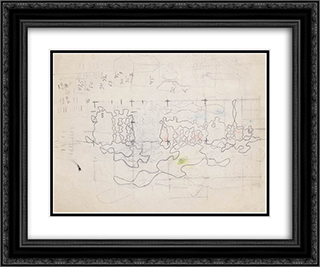 A Sketch 24x20 Black or Gold Ornate Framed and Double Matted Art Print by Wladyslaw Strzeminski