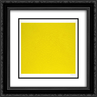 Unist Composition 20x20 Black or Gold Ornate Framed and Double Matted Art Print by Wladyslaw Strzeminski