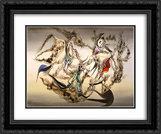 Ciel de pieuvre 24x20 Black or Gold Ornate Framed and Double Matted Art Print by Wolfgang Paalen