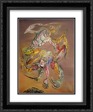 Combat des Princes Saturniens III 20x24 Black or Gold Ornate Framed and Double Matted Art Print by Wolfgang Paalen
