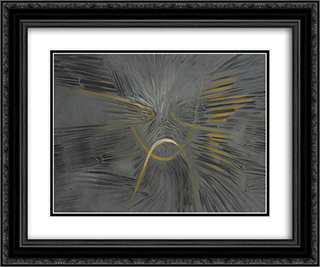 Eroun 24x20 Black or Gold Ornate Framed and Double Matted Art Print by Wolfgang Paalen
