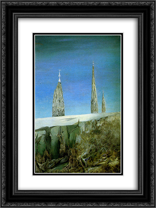 Fata Alaska 18x24 Black or Gold Ornate Framed and Double Matted Art Print by Wolfgang Paalen