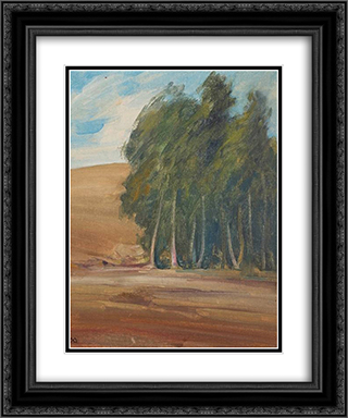A Grove of Windswept Trees 20x24 Black or Gold Ornate Framed and Double Matted Art Print by Xavier Martinez
