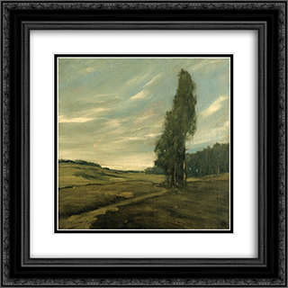 Contra Costa Landscape 20x20 Black or Gold Ornate Framed and Double Matted Art Print by Xavier Martinez
