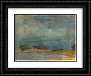 Dodge Ranch 24x20 Black or Gold Ornate Framed and Double Matted Art Print by Xavier Martinez