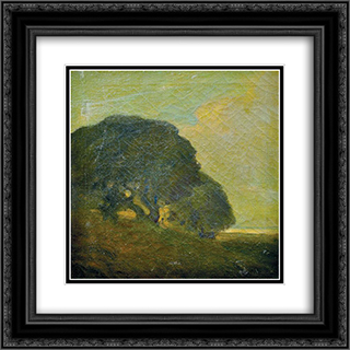 Landscape 20x20 Black or Gold Ornate Framed and Double Matted Art Print by Xavier Martinez