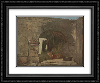 Old Alcaiseria, Guadalajara, Mexico 24x20 Black or Gold Ornate Framed and Double Matted Art Print by Xavier Martinez
