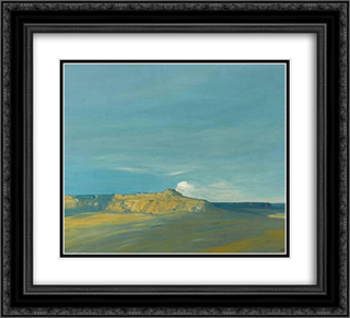 Oraibi, Hopi village, Arizona 22x20 Black or Gold Ornate Framed and Double Matted Art Print by Xavier Martinez