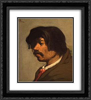 Self-Portrait 20x22 Black or Gold Ornate Framed and Double Matted Art Print by Xavier Martinez
