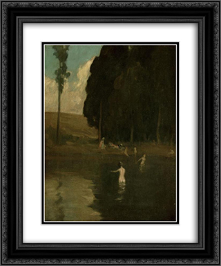 The Bathers 20x24 Black or Gold Ornate Framed and Double Matted Art Print by Xavier Martinez