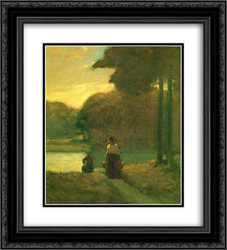 The Water Carriers 20x22 Black or Gold Ornate Framed and Double Matted Art Print by Xavier Martinez