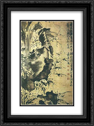 unknown title 18x24 Black or Gold Ornate Framed and Double Matted Art Print by Xu Wei