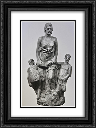 Medea III 18x24 Black or Gold Ornate Framed and Double Matted Art Print by Yannoulis Chalepas