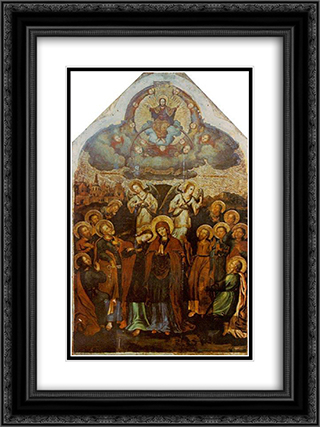 Ascension. 18x24 Black or Gold Ornate Framed and Double Matted Art Print by Yov Kondzelevych