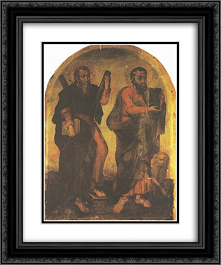 Icon of Apostles Andrew and Mark 20x24 Black or Gold Ornate Framed and Double Matted Art Print by Yov Kondzelevych