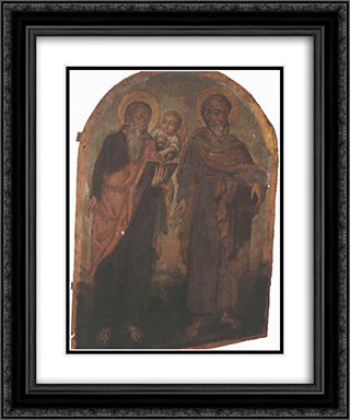 Icon of Apostles Peter and Matthew 20x24 Black or Gold Ornate Framed and Double Matted Art Print by Yov Kondzelevych