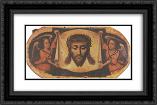 Icon Spas nerukotvornyi (Savior-Not-Made-by-Hands) from the Maniava Hermitage iconostasis 24x16 Black or Gold Ornate Framed and Double Matted Art Print by Yov Kondzelevych