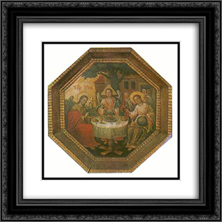 Old Testament Trinity 20x20 Black or Gold Ornate Framed and Double Matted Art Print by Yov Kondzelevych