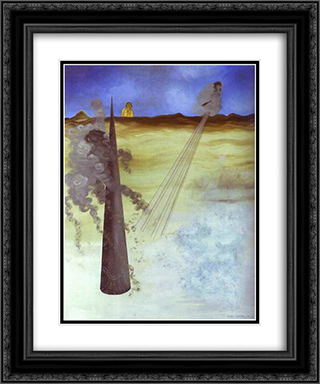I Came Like I Promised 20x24 Black or Gold Ornate Framed and Double Matted Art Print by Yves Tanguy