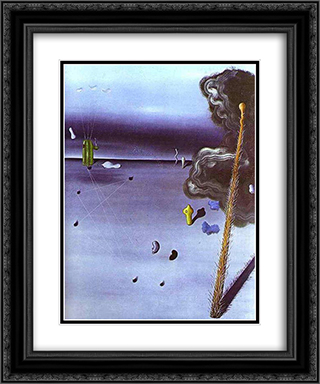Mama, Papa is Wounded! 20x24 Black or Gold Ornate Framed and Double Matted Art Print by Yves Tanguy
