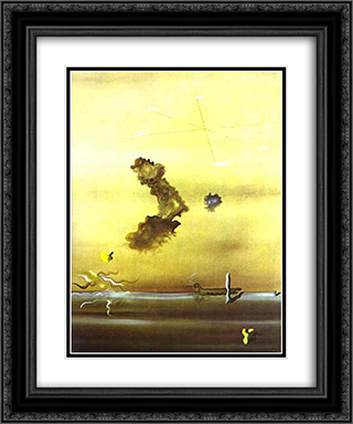 Outside 20x24 Black or Gold Ornate Framed and Double Matted Art Print by Yves Tanguy