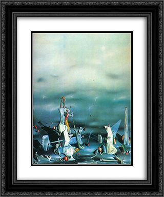 Palace on windows rocks 20x24 Black or Gold Ornate Framed and Double Matted Art Print by Yves Tanguy