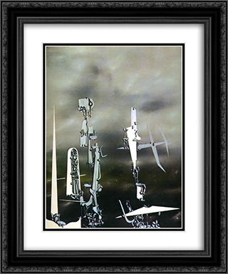 Phantoms 20x24 Black or Gold Ornate Framed and Double Matted Art Print by Yves Tanguy