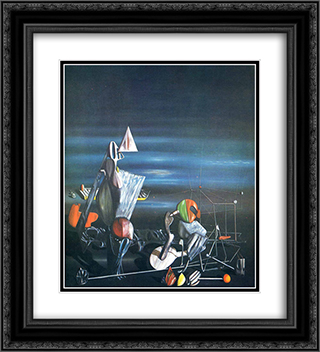 Slowly Toward The North 20x22 Black or Gold Ornate Framed and Double Matted Art Print by Yves Tanguy