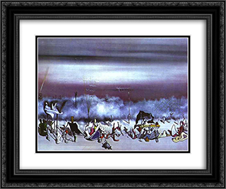 The Ribbon of Extremes 24x20 Black or Gold Ornate Framed and Double Matted Art Print by Yves Tanguy