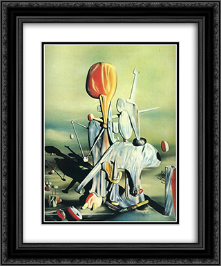 Through Birds Through Fire But Not Through Glass 20x24 Black or Gold Ornate Framed and Double Matted Art Print by Yves Tanguy