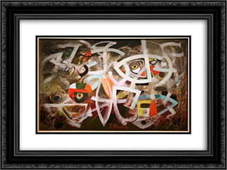 Maneuver for Position 24x18 Black or Gold Ornate Framed and Double Matted Art Print by Bradley Walker Tomlin