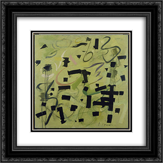 Number 12 20x20 Black or Gold Ornate Framed and Double Matted Art Print by Bradley Walker Tomlin