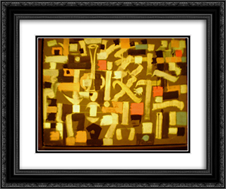 Number 13 24x20 Black or Gold Ornate Framed and Double Matted Art Print by Bradley Walker Tomlin
