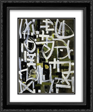Number 2 20x24 Black or Gold Ornate Framed and Double Matted Art Print by Bradley Walker Tomlin