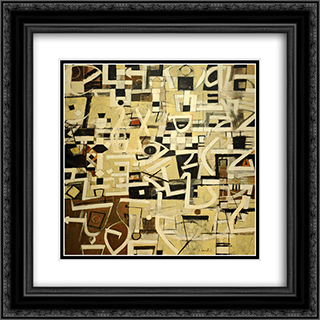 Number 20 20x20 Black or Gold Ornate Framed and Double Matted Art Print by Bradley Walker Tomlin