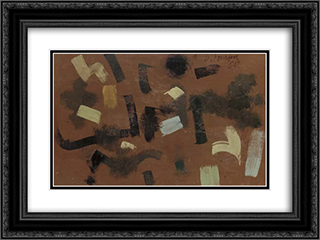 Number 3 24x18 Black or Gold Ornate Framed and Double Matted Art Print by Bradley Walker Tomlin