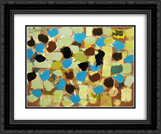 Number 7 24x20 Black or Gold Ornate Framed and Double Matted Art Print by Bradley Walker Tomlin
