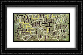 Number 9. In Praise of Gertrude Stein 24x16 Black or Gold Ornate Framed and Double Matted Art Print by Bradley Walker Tomlin