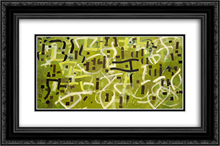 Number 9 In Praise of Gertrude Stein 24x16 Black or Gold Ornate Framed and Double Matted Art Print by Bradley Walker Tomlin