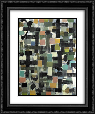 Shapes 20x24 Black or Gold Ornate Framed and Double Matted Art Print by Bradley Walker Tomlin