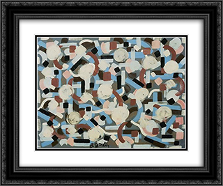 Untitled 24x20 Black or Gold Ornate Framed and Double Matted Art Print by Bradley Walker Tomlin