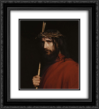 Christ with Thorns 20x22 Black or Gold Ornate Framed and Double Matted Art Print by Carl Bloch