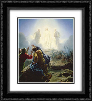 Transfiguration of Jesus 20x22 Black or Gold Ornate Framed and Double Matted Art Print by Carl Bloch