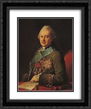 Alexandr Viazemsky 20x24 Black or Gold Ornate Framed and Double Matted Art Print by Carl Ludwig Johann Christineck