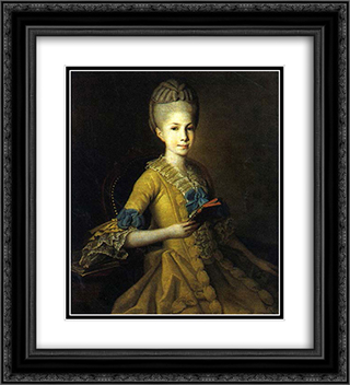 Catherine Mordvinova 20x22 Black or Gold Ornate Framed and Double Matted Art Print by Carl Ludwig Johann Christineck