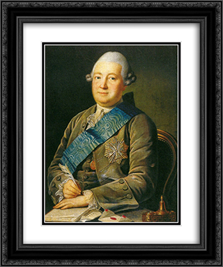 Portrait of Adam Vasilevich Olsufyev 20x24 Black or Gold Ornate Framed and Double Matted Art Print by Carl Ludwig Johann Christineck